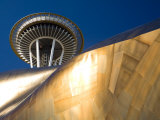Space Needle and the Experience Music Project  Seattle Center  Seattle  Washington  USA