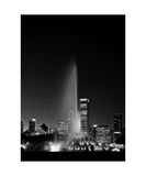 Chicagos Buckingham Fountain  Black & White  Port