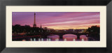 Sunset  Romantic City  Eiffel Tower  Paris  France