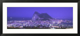 High Angle View of a City  Gibraltar  Spain