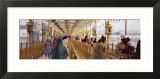 Group of People Walking on a Bridge over a Pond  Golden Temple  Amritsar  Punjab  India