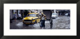 Cars and a Rickshaw on the Street  Calcutta  West Bengal  India
