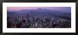Aerial View of Central Business District  Seoul  South Korea