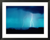 Lightning Over Great Basin Desert  Four Corners Monument Navajo Tribal Park  Utah  USA