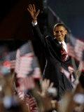 President-Elect Barack Obama Walking onto Stage to Deliver Acceptance Speech  Nov 4  2008
