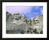 View of Mount Rushmore National Monument Presidential Faces  South Dakota  USA