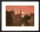 Belfort and River Dijver  Bruges  Belgium