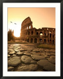 Colosseum and Via Sacra  Sunrise  Rome  Italy
