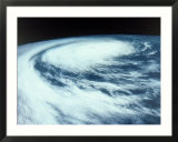 Hurricane viewed from outer space
