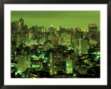 Evening view of Sao Paulo  Brazil