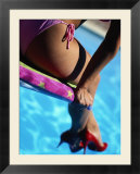 Mexican Woman in Bikini by Swimming Pool