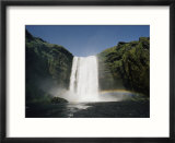View of Skogafoss waterfall in Iceland
