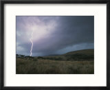 Landscape with lightning near Gladysvale  South Africa