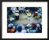 The Blur of a Frenzied Beat in a Circle of Spontaneous Drumming