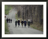 Amish people visiting Middle Creek Wildlife Management Area a 5 000 acre preserve started in 1966