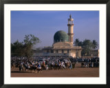 Crowds Gather in Front of Kano Mosque During Celebrations for Durbar Festival  Kano  Nigeria