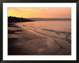 Sunset Over Beach At Low-Tide Whitby  England