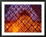 The Louvre Through It's Glass Pyramid  Paris  France