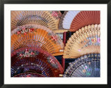Fans at Stall  El Rastro Market  La Latina  Madrid  Spain