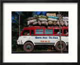 Bus Carrying Load And Passengers  Vietnam