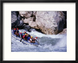 Raft Going Into Big Dipper Rapid At Sun Kosi River  Bagmati  Nepal