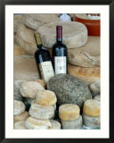 Wine and Cheese at Open-Air Market  Lake Maggiore  Arona  Italy