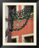 Star of David Detail on Restaurant Sign  Colmar  Haut Rhin  Alsace  France