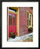 French Quarter Residential Building Detail  Soulard  St Louis  Missouri  USA