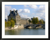 Pont Royal and the Louvre Museum  Paris  France