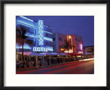 Evening on Ocean Drive  South Beach  Miami  Florida  USA