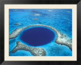Aerial View of Blue Hole at Lighthouse Reef  Belize