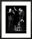 Luciano Pavarotti Opera Singer at a New York Concert with Frank Sinatra