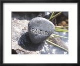 Rock with the Word Friends Beside Water