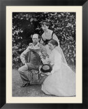 Charles Dickens English Writer at His Home at Gadshill in Kent with His Daughters Kate and Mary