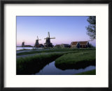Windmills at Sunset  Zaanstad  North Holland
