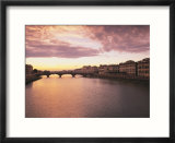 Sunset  Arno River  Tuscany  Italy