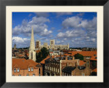 City buildings with York Minster Cathedral in background  York  United Kingdom