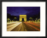 Traffic  Arc de Triomph  Paris  France