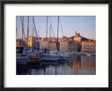 Sailboats In Port By Buildings  Marseille  France