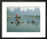 Fishermen On Bamboo Rafts  China