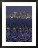 Shelter Island Yacht Harbor with Skyline of San Diego  California