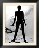 Silhouette of Nude Woman Painting Abstract Canvas