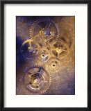 Gold watch gears
