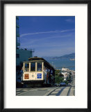 Trolley in motion  San Francisco  CA