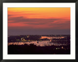 Newport Beach and Marina at night  California