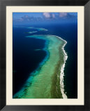 Aerial of Barrier Atoll  Micronesia