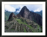 View of Incan Ruins  Machu Picchu  Peru