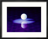 Abstract image of full moon reflected in water