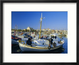 Fishing Boats in Harbour  Aegina Town  Aegina  Greece