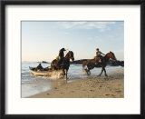 Horses Dragging a Fishing Boat up the Beach  Horcon  Chile  South America
